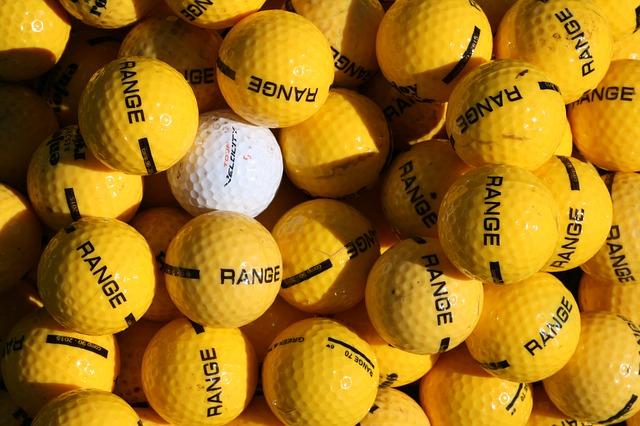 כדור לבן בערימת כדורים צהובים